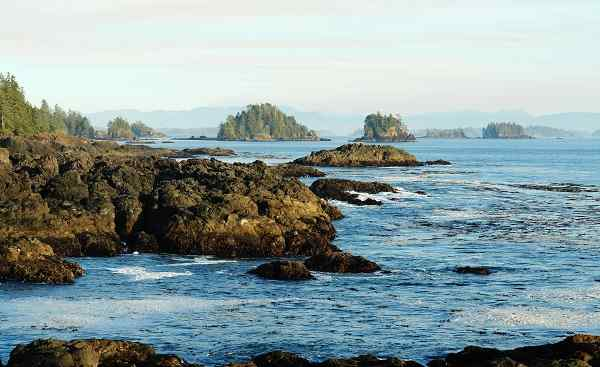 CAD-RM-CPC Kanada Vancouver Island Rocky seashore in the pacific rim national park